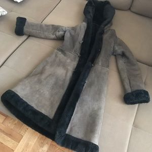 Real Lambskin Wool Fur Coat M